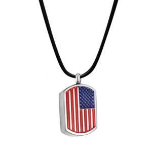 B101044 American Flag Dog Tag Memorial Necklace 1