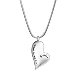 B101821 Grandpa Forever in Heart Memorial Jewelry 1