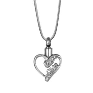 B102231 Love Crystal Heart Memorial Necklace 1