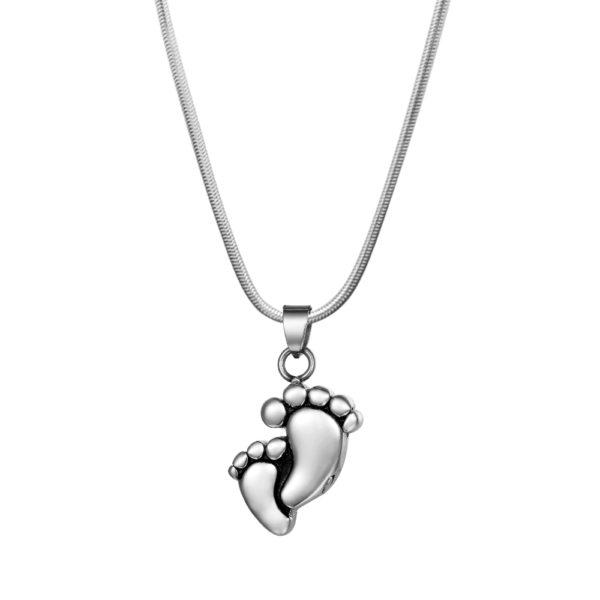 B106417 Baby Foot Print Memorial Necklace 1