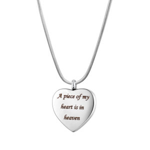 B106861 Piece of My Heart Is In Heaven Memorial Necklace 1