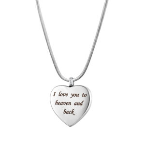 B106868 I Love You to Heaven and Back Memorial Necklace 1