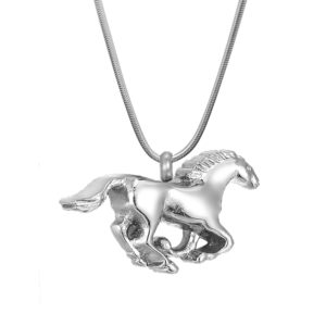 B124941 Running Horse Memorial Necklace 1