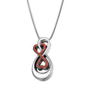 Double Infinity Memorial Necklace