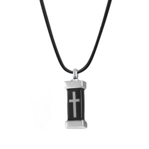 B87388 Boxed Urn Cross Memorial Necklace 1