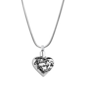 B89119 Paw Always in My Heart Memorial Necklace 1