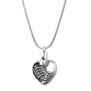 B89126 Angel Wing Heart Memorial Necklace 1