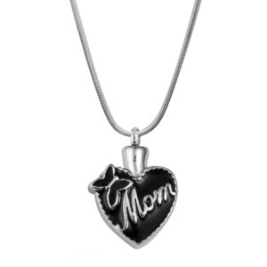 B89320 Butterfly Mom Heart Memorial Necklace 1