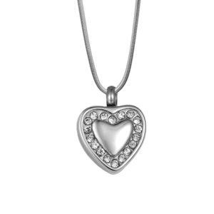 B89324 Brenna Heart Memorial NecklacePendant 1