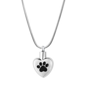 B92288 Paw in My Heart Memorial Necklace 1