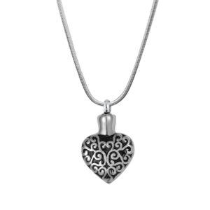B93628 Cirrus Heart Memorial Necklace 1