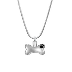 B94915 Steel My Dog Bone Memorial Necklace 1