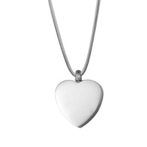 B95049 Plain Classic Heart Memorial Jewelry 1