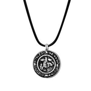 B96467 U.S. Marine Corps Badge Memorial Necklace 1