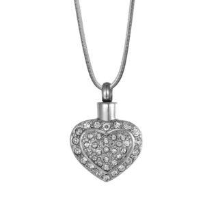 B96468 Flickering Heart Memorial Necklace 1