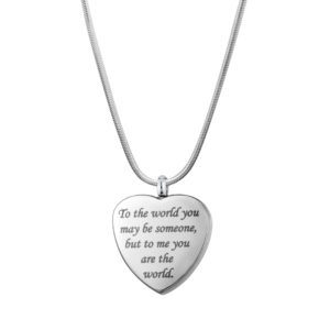 B97654 You are My World Heart Memorial Necklace 1