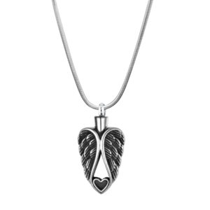 B97728 Guardian Angel Heart Memorial Necklace 1