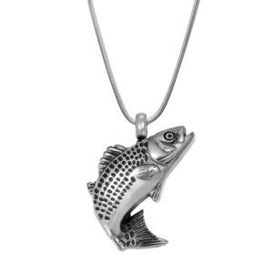 B97729 Playing Fish Memorial Necklace 1