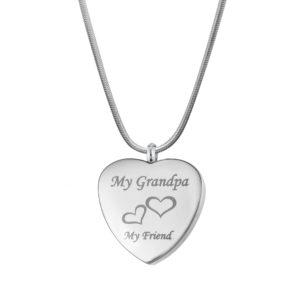 B97955 Grandpa My Friend Heart Memorial Jewelry 1