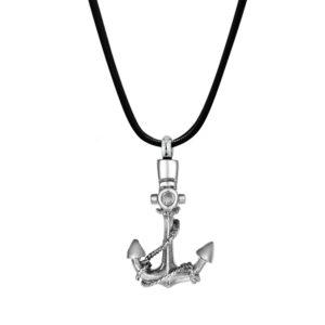 B98181 Premium Pirate Anchor Memorial Necklace 1