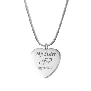 B99909 Sister My Friend Love Heart Memorial Jewelry 1