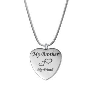 B99910 Brother My Friend Love Heart Memorial Jewelry 1
