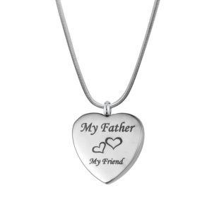 B99911 Father My Friend Love Heart Memorial Jewelry 1