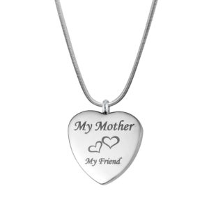 B99912 Mother My Friend Love Heart Memorial Jewelry 1