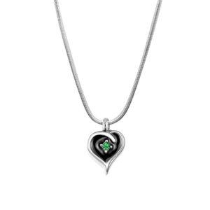 Crystal Mini Heart Memorial Necklace
