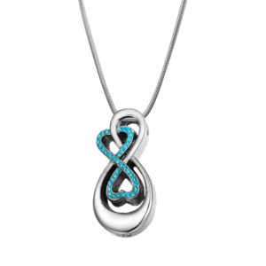 Double Infinity Memorial Necklace