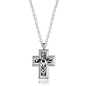 B102378 Vintage Cross Essential Oil Necklace 1