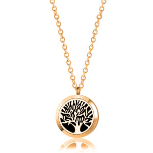 B102408 Gold Tree of Life Essential Oil Necklace 1