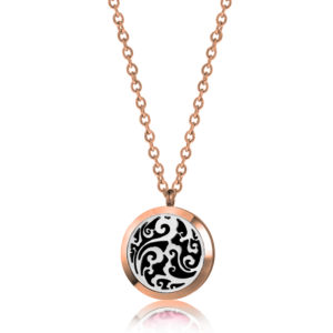 B102424 Rose Gold  Clouds Essential Oil Necklace 1