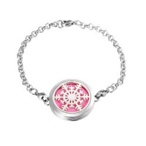 B104844 Snowflake Essential Oil Locket Bracelet 1