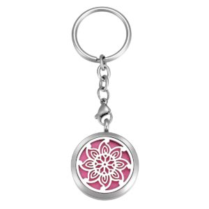 B105213-2 Blomming Flower Essential Oil Key Chain 1
