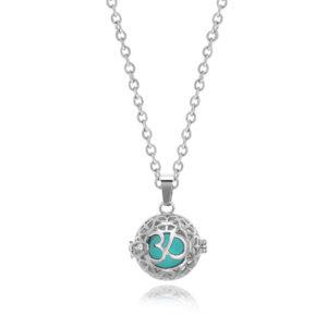 B111422 Symbolic Spherical Essential Oil Necklace 1
