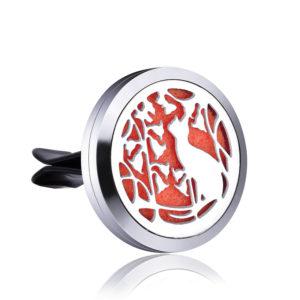 B133489 Kitty Heart Essential Oil Car Vent Clip 1