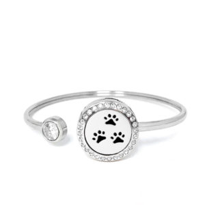 P001866 Dog Paws Rainstones Essential Oil Bangle 1