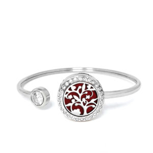 P001868 Blossom Tree Rainstones Essential Oil Bangle 1