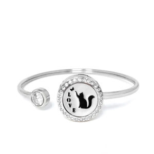 P001870 Kitty Love Rainstones Essential Oil Bangle 1