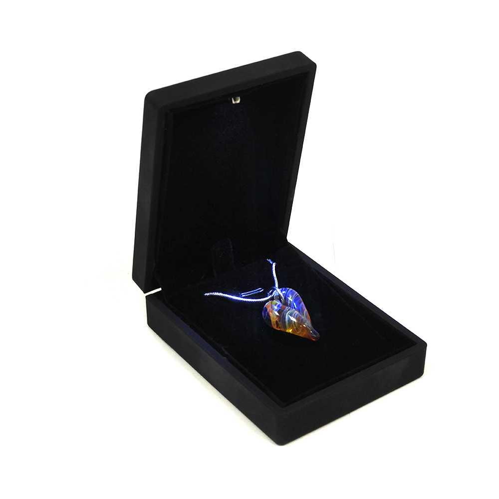 B159173 Devotion Heart Shaped Hand Blown Cremation Ash Necklace 2